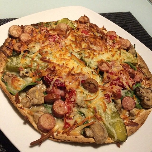 "Pizza ""fit"" de verduras (Fajipizza)"