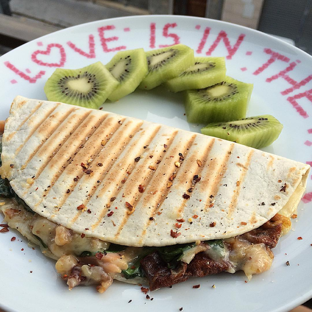 "Quesadilla de salmón ""fit"""
