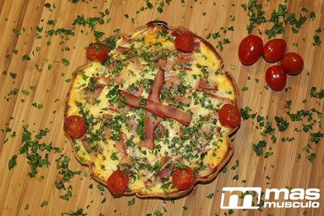 "Quiche de espinacas y bacon ""fit"""