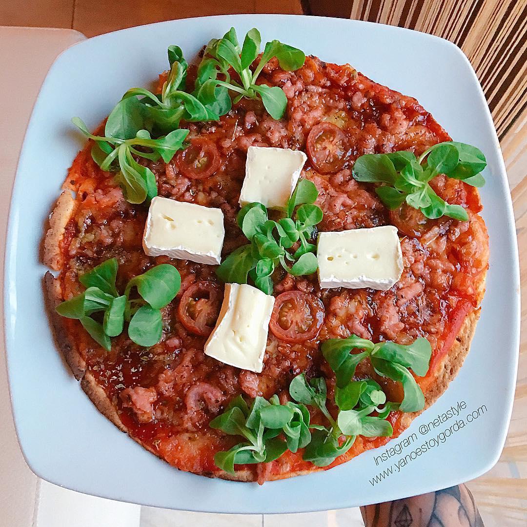 """Pizza """"fit"""" de pollo (Fajipizza)"""