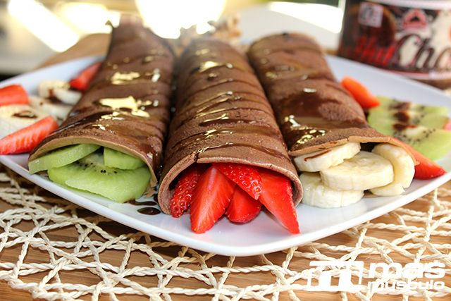 "Crepes de chocolate ""fit"""