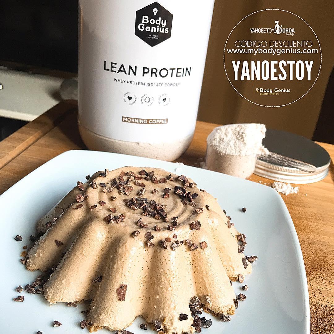 Flan de proteinas sabor café