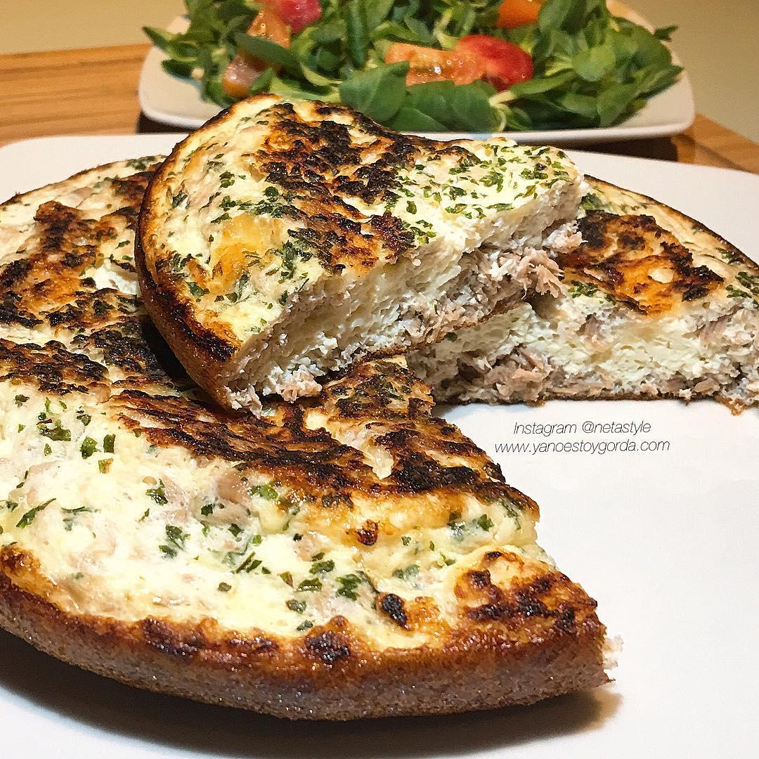 Tortilla de claras y atún