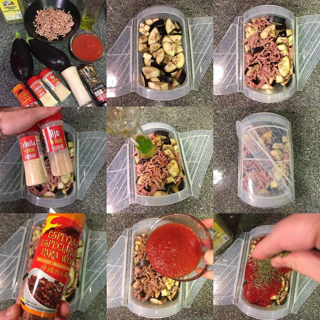 Bolo esa de pollo y berenjena al microondas yanoestoygorda by netastyle - Cocinar al microondas ...