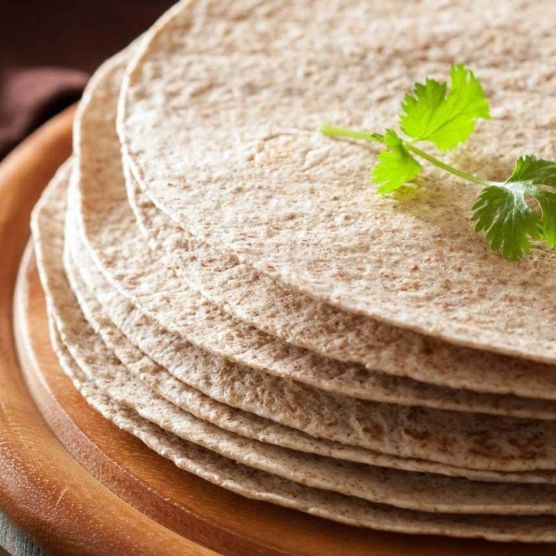 Tortillas de trigo 100% integrales