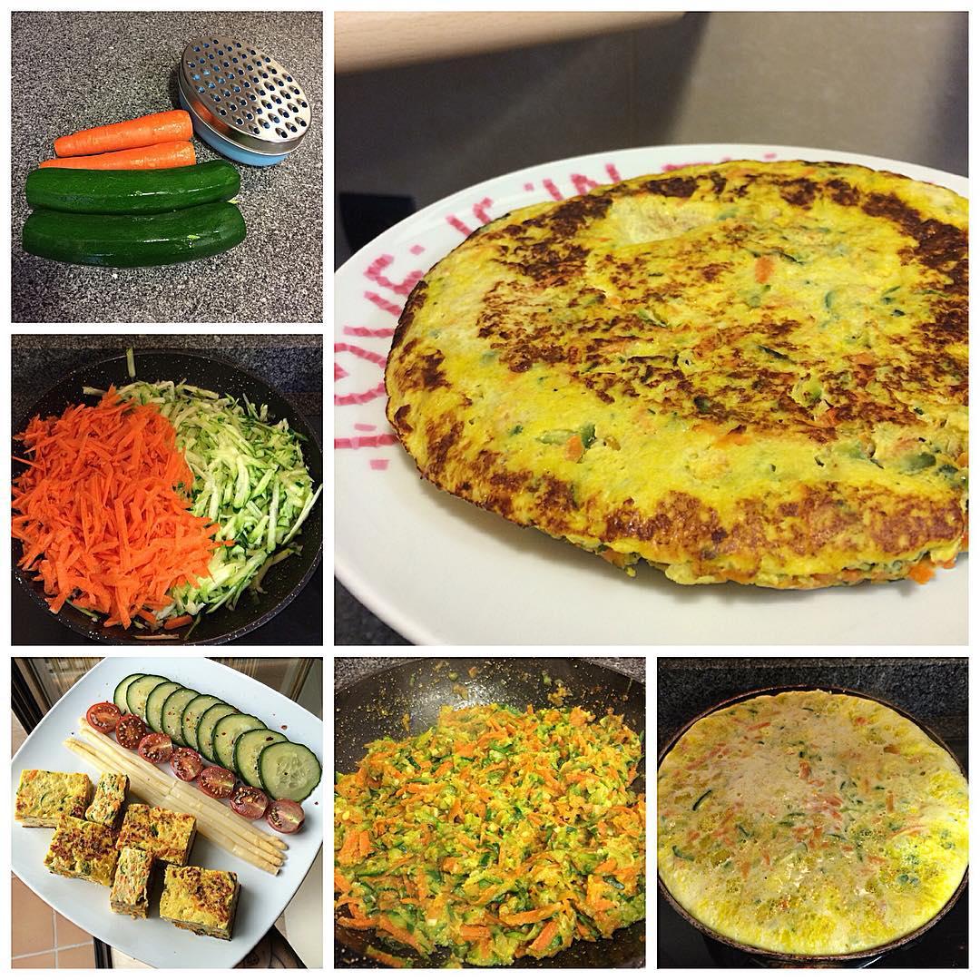 Tortilla de zanahoria y calabacín