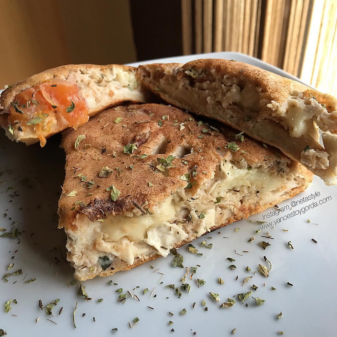 Maxi tortita de atún y queso