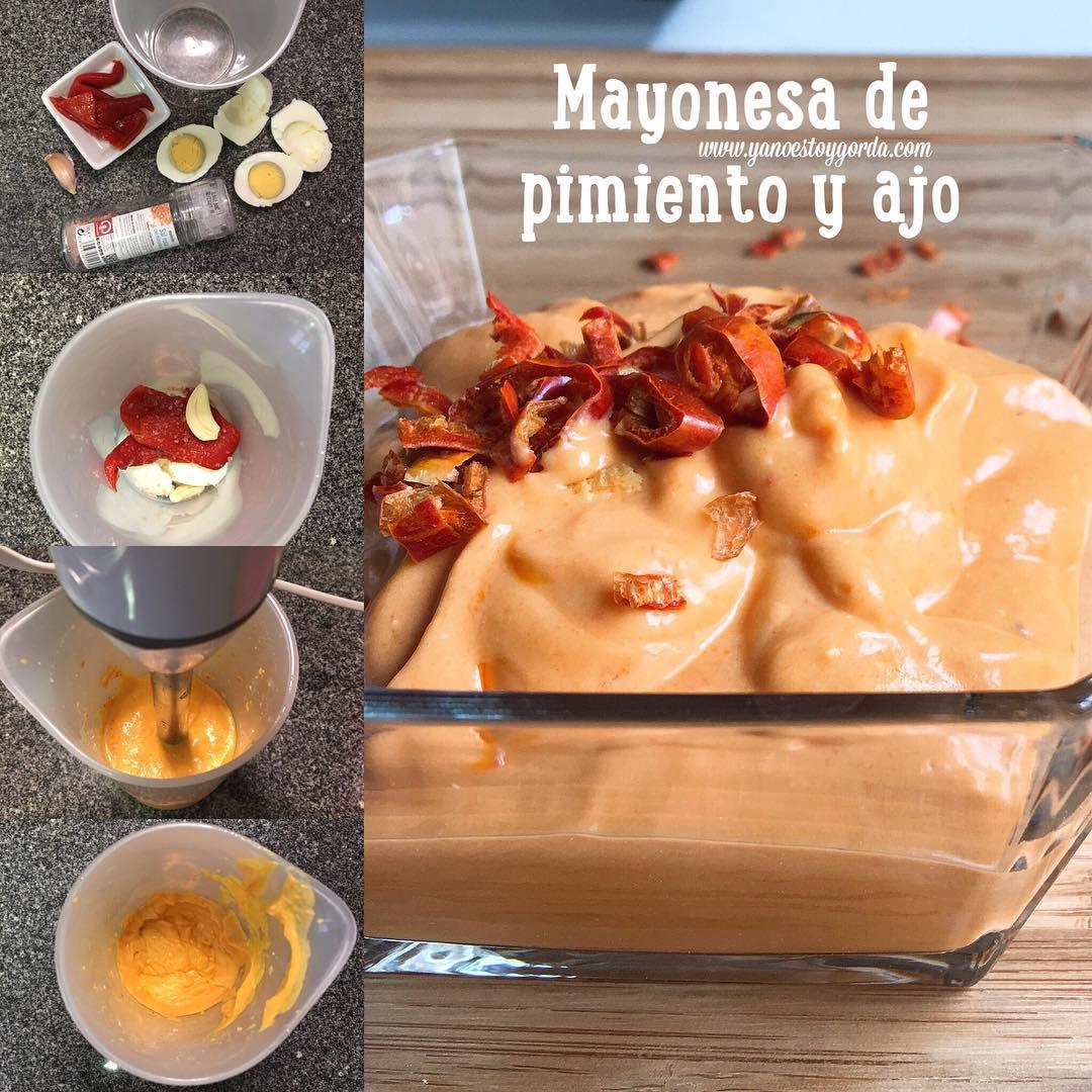 Mayonesa de pimiento y ajo