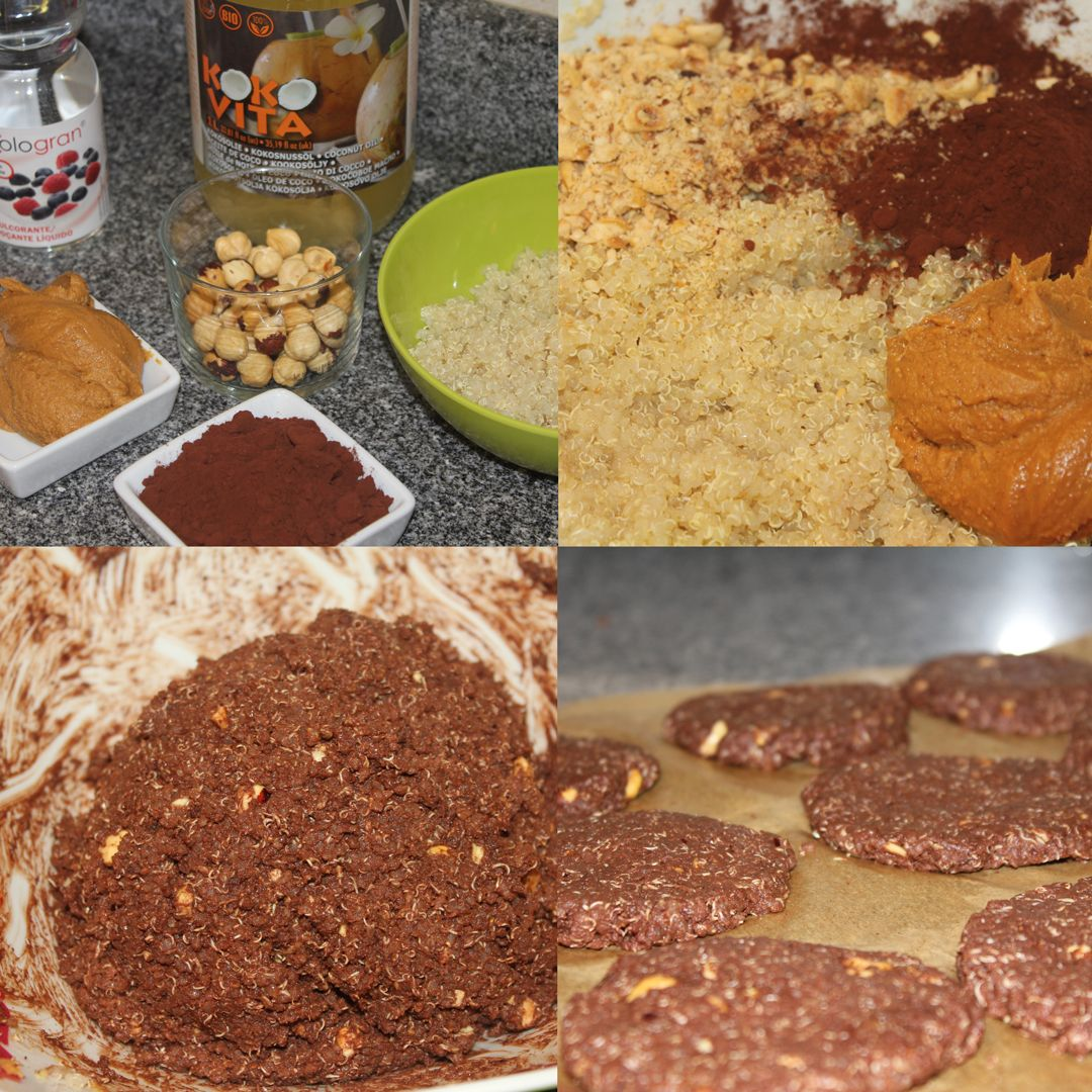Galletas heladas de quinoa