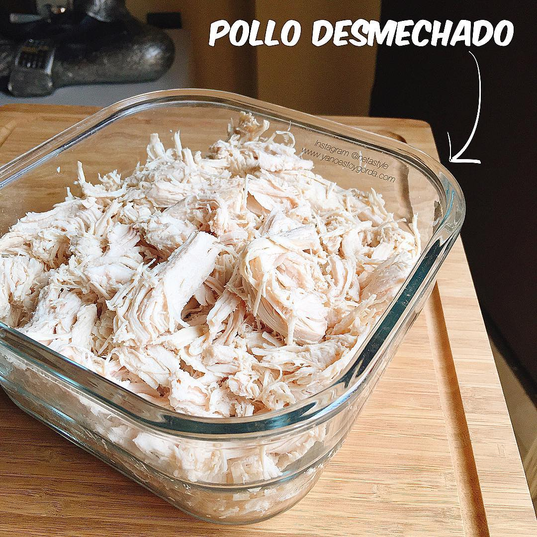 Pollo desmechado saludable