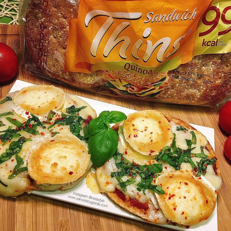 Pizzetas de mozzarella en base de Sandwich Thins