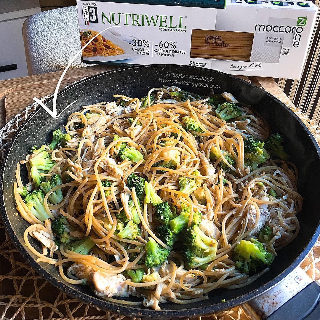 Espaguetis Low Carb Con Brócoli Y Pollo Cocinandomelavida