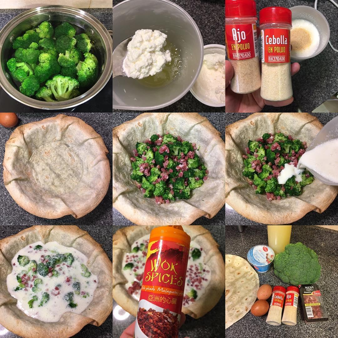 Quiche proteica de brócoli