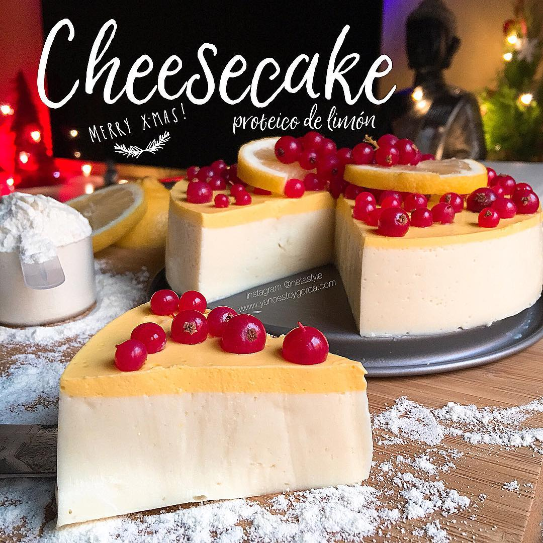 Cheesecake proteico de limón