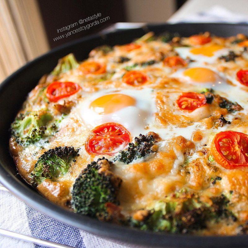 Quiche proteica al horno de brócoli y atún