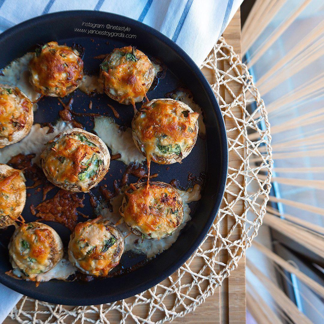 RECETA FITNESS: Champiñones rellenos de espinacas y atún