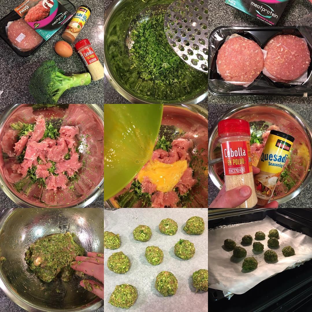 Albóndigas de pavo y brócoli