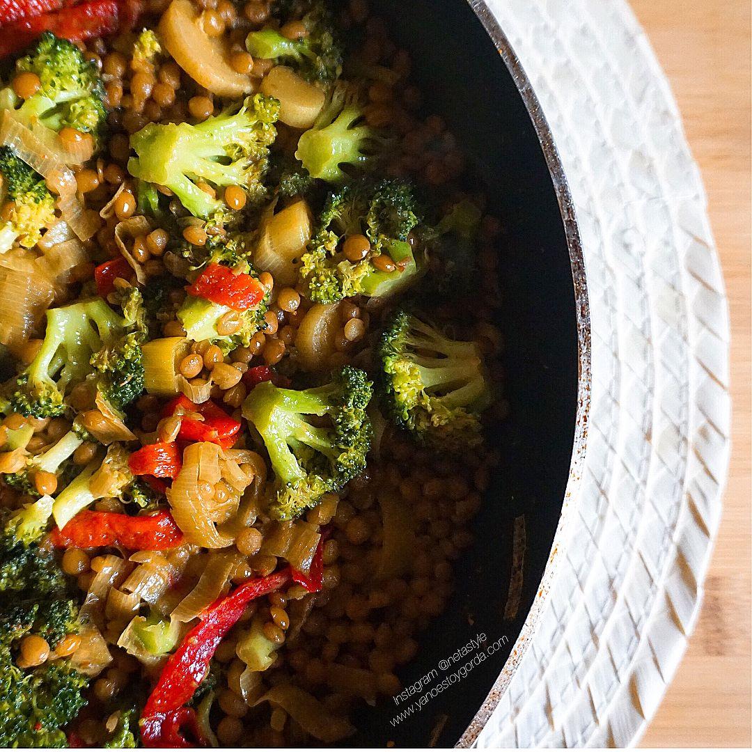 Lentejas al curry picante con verduras