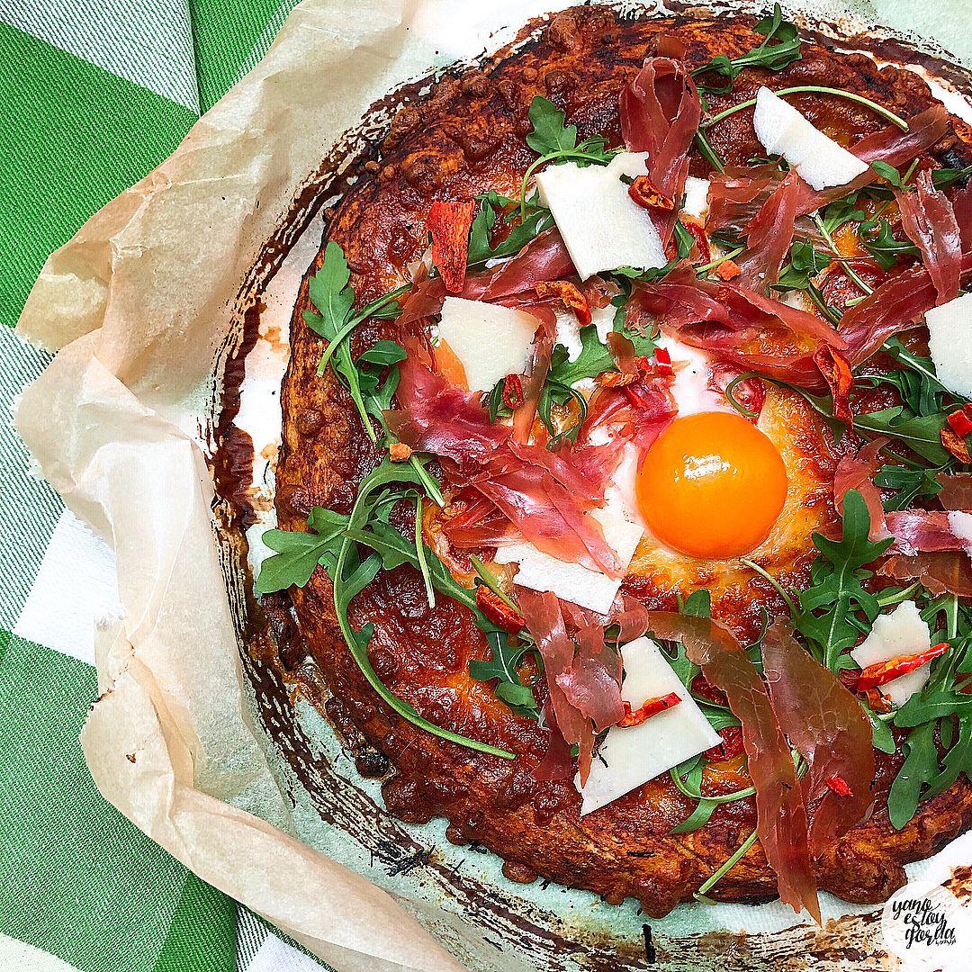 Masa de pizza de espelta integral
