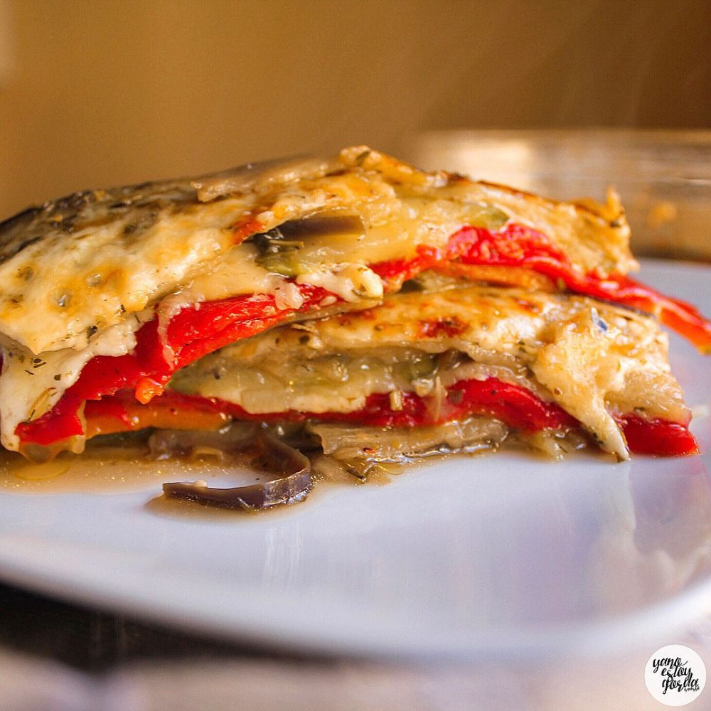 Lasaña de vegetales con queso