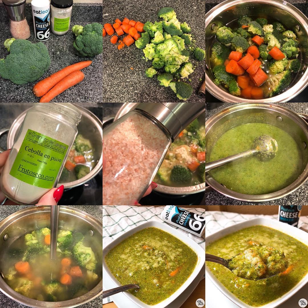 Sopa de brócoli y zanahoria