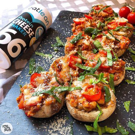 Champiñones rellenos a lo pizza