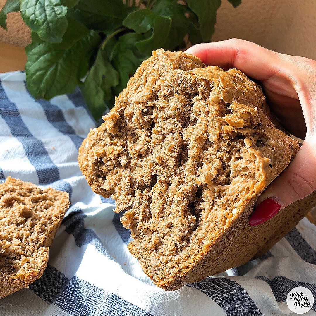 Pan 100% integral de centeno y trigo con pipas