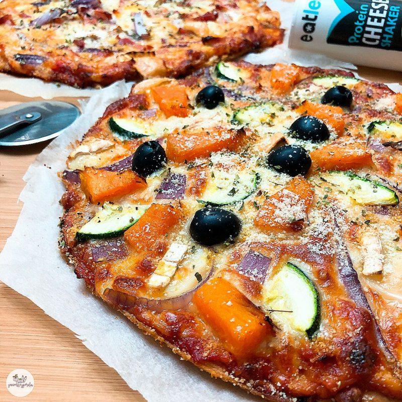 Pizza de espelta integral y calabaza asada