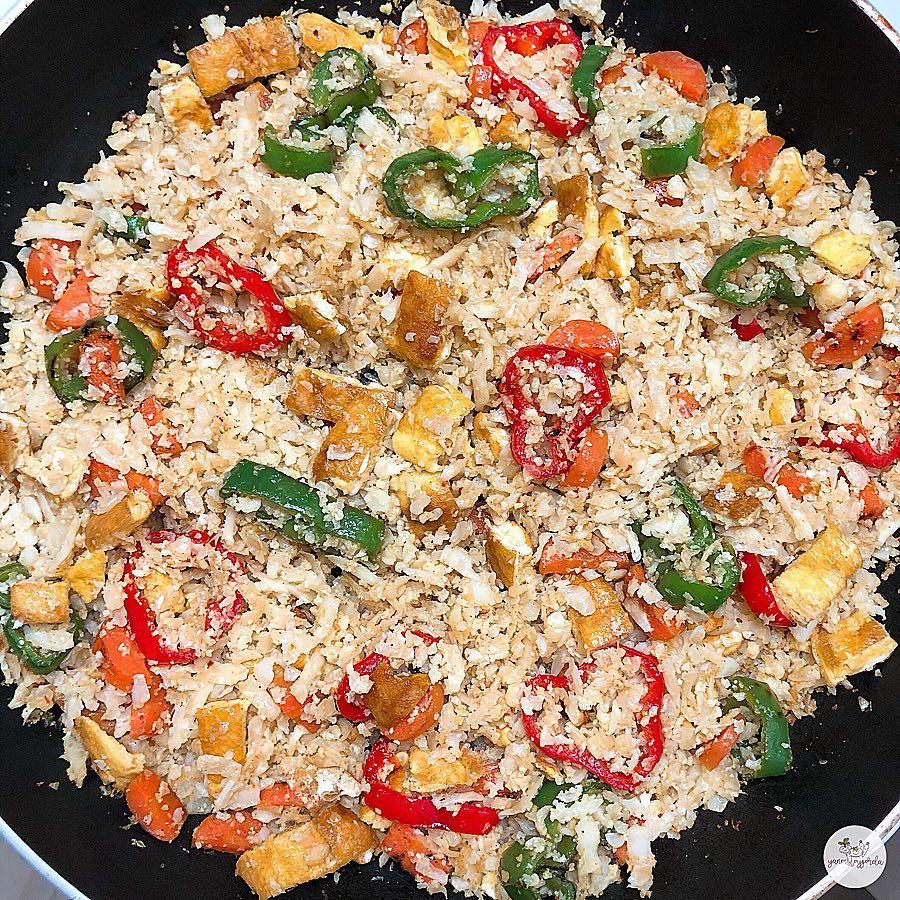 Falso arroz de coliflor 3 delicias
