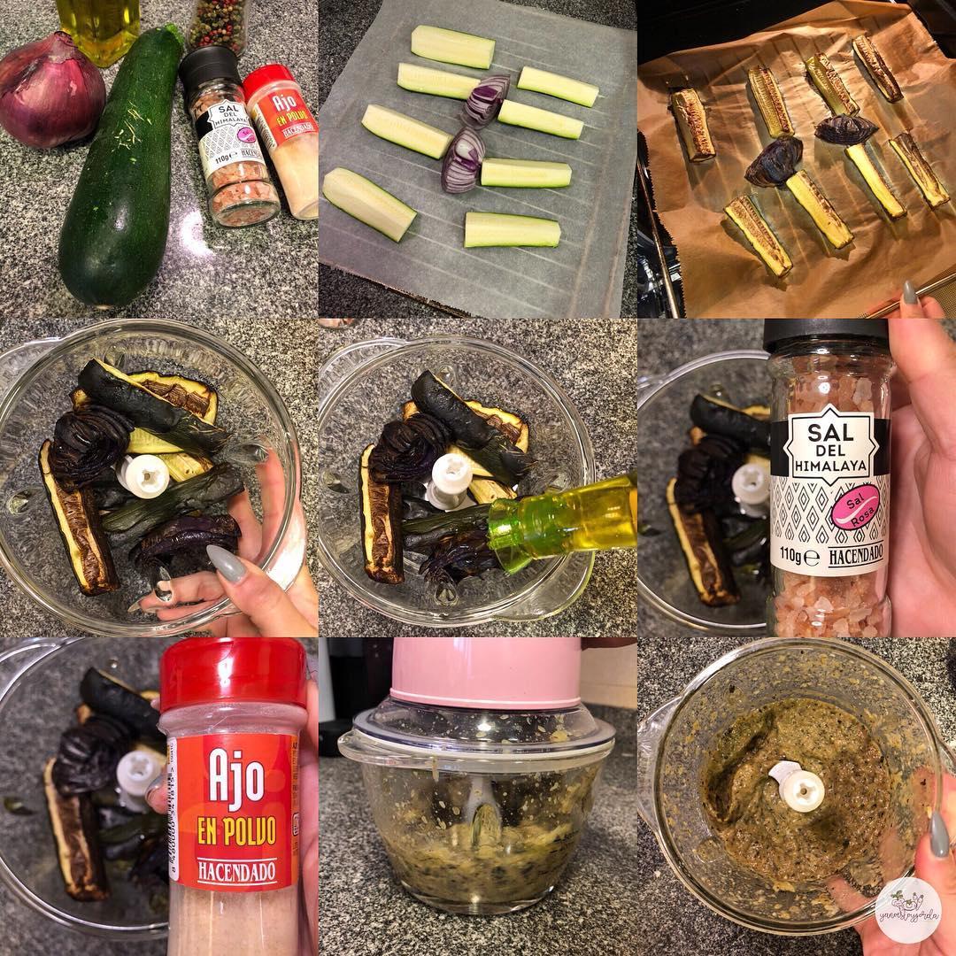 Paté de calabacín y cebolla a la pimienta