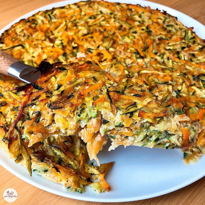 Torta de calabacín y zanahoria