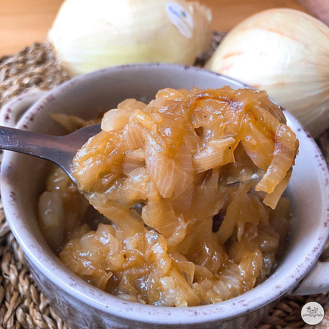 Cebolla caramelizada sin azúcares añadidos