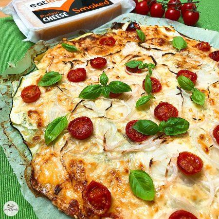 Calabapizza con queso y cebolla