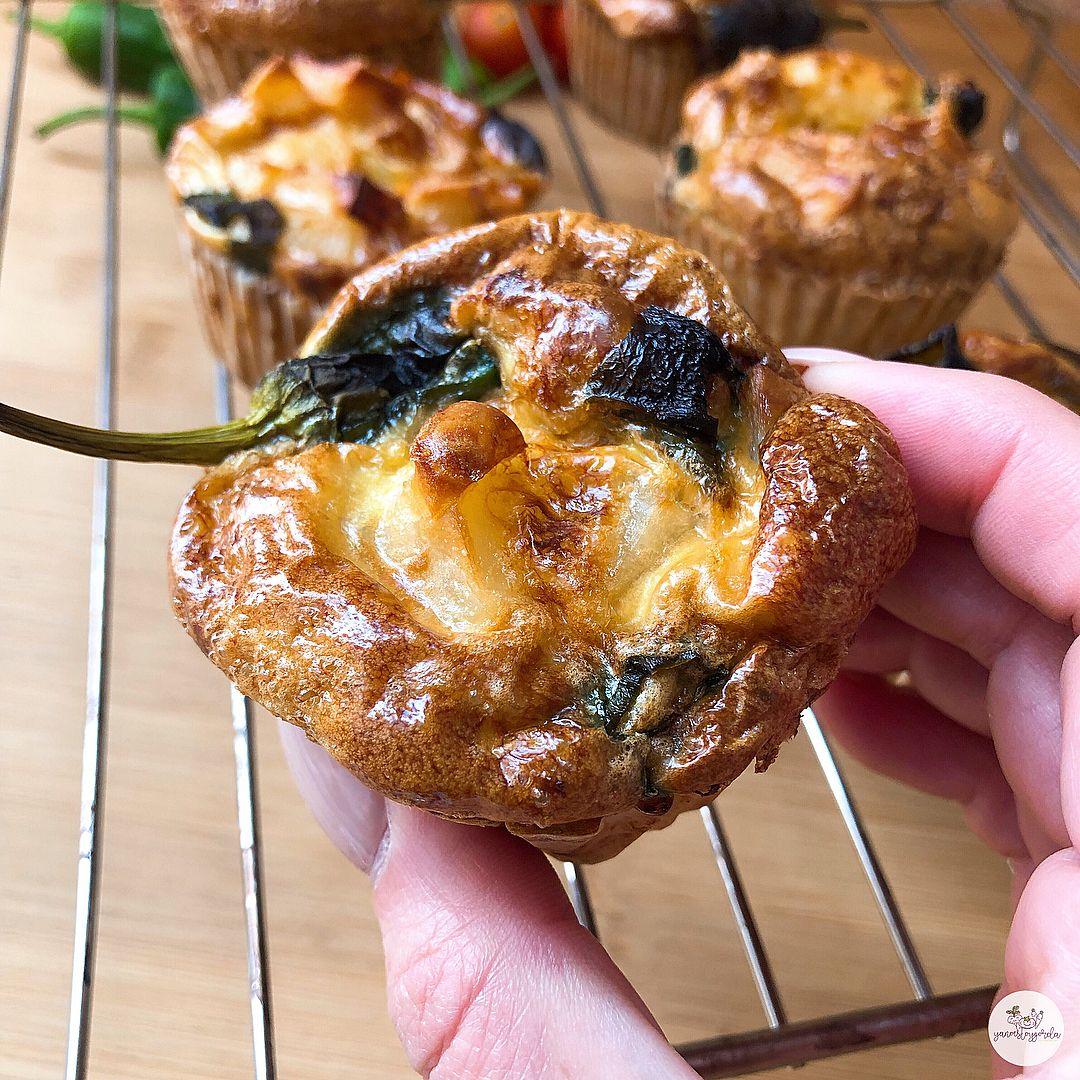 Muffins de tortilla de patata saludable