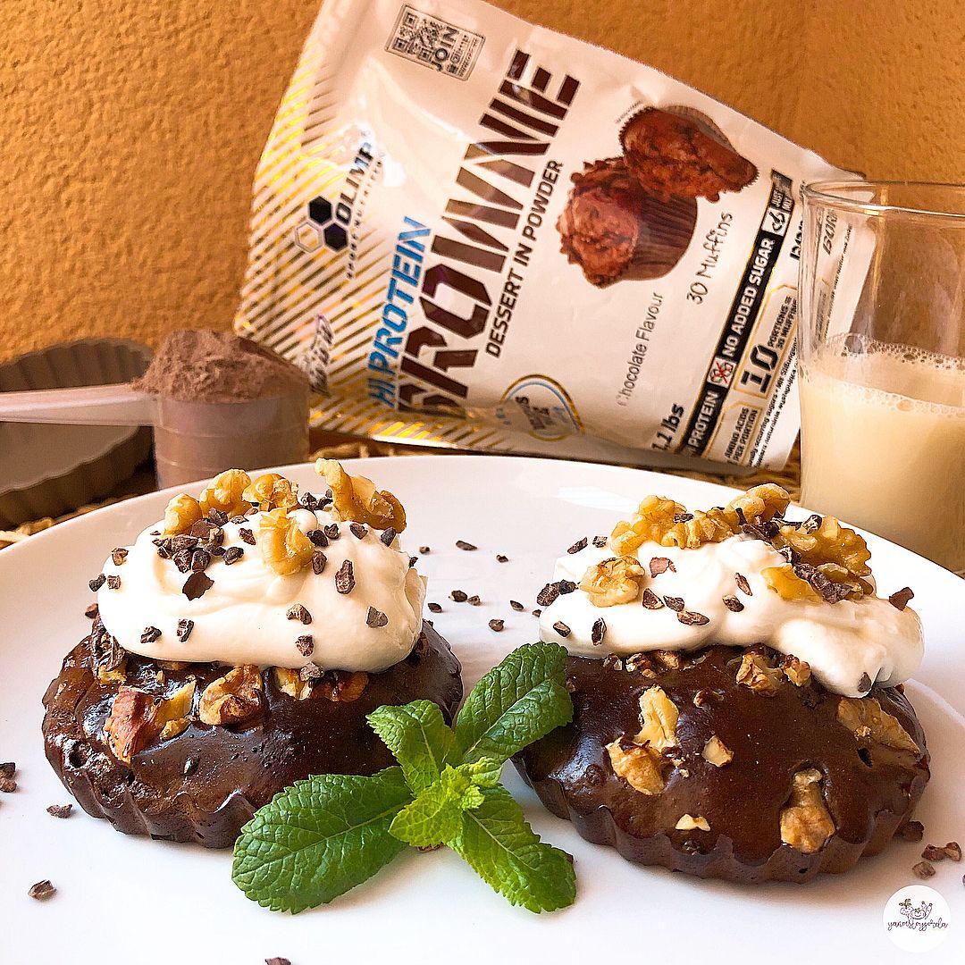 Tartaletas de brownie