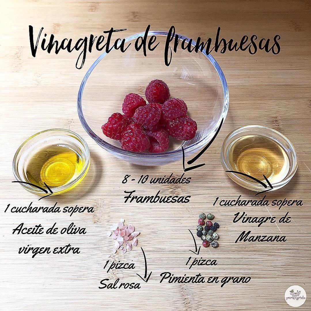 Vinagreta de frambuesas