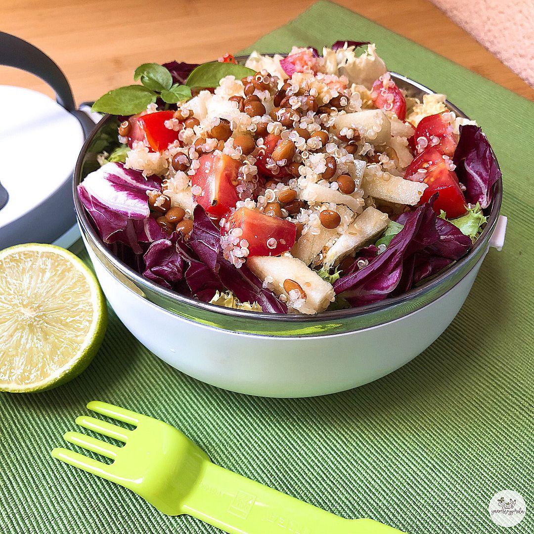 Ensalada de quinoa y lentejas