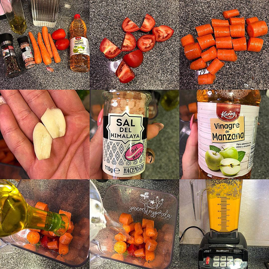 Gazpazcho de zanahoria