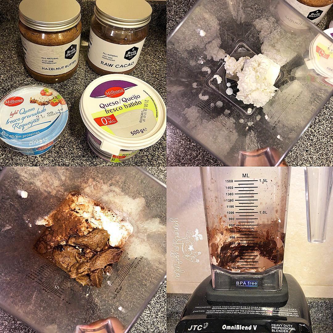 Helado saludable de nutella