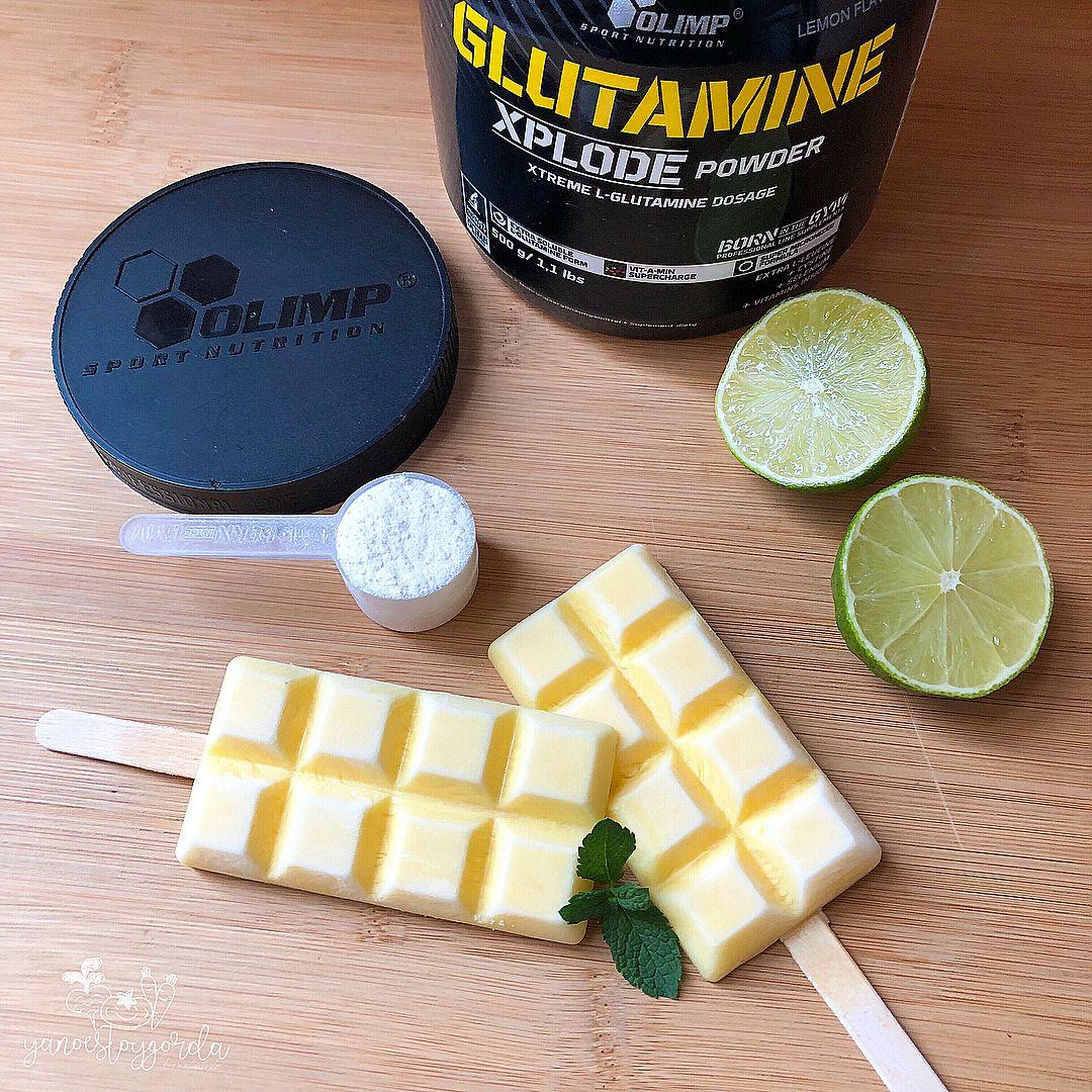 Helados de glutamina lima limón