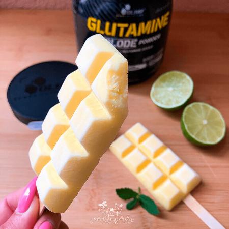 Helados de glutamina lima-limón