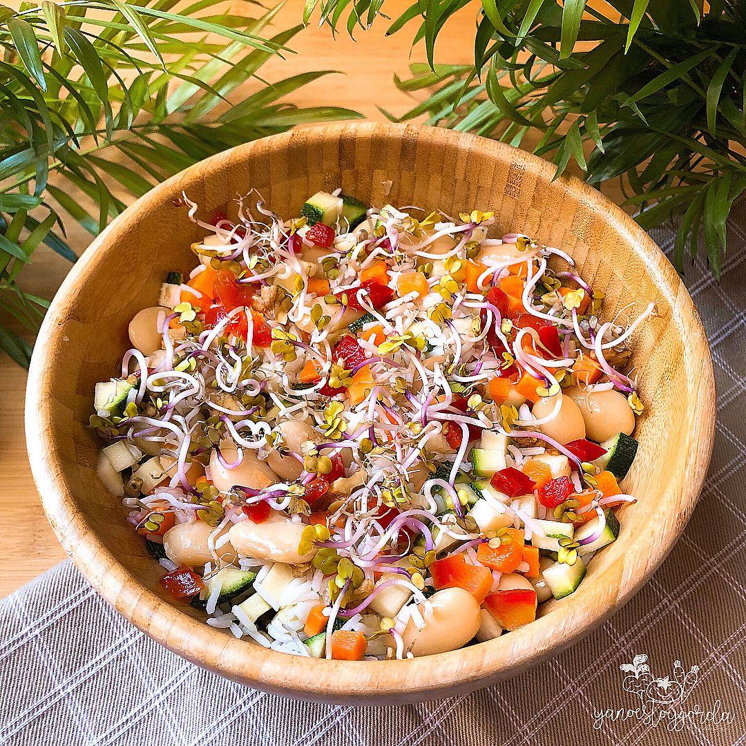 Ensalada de arroz y judiones