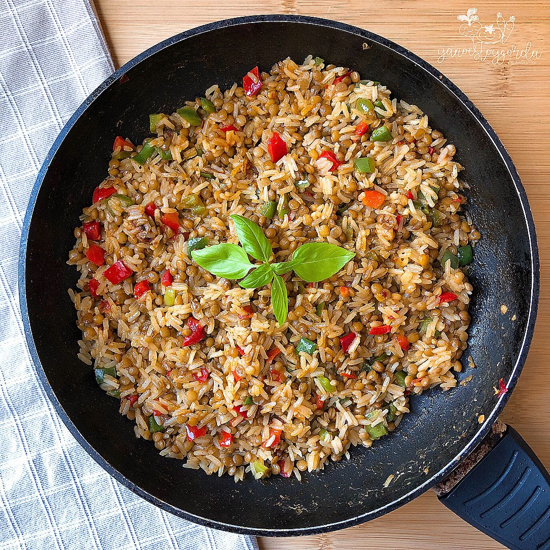 Lentejas con arroz al curry