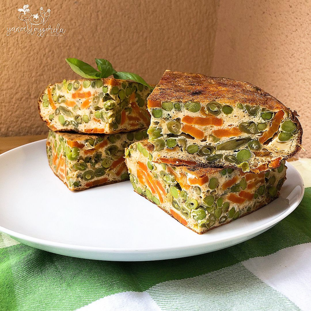 Tortilla de menestra de verduras