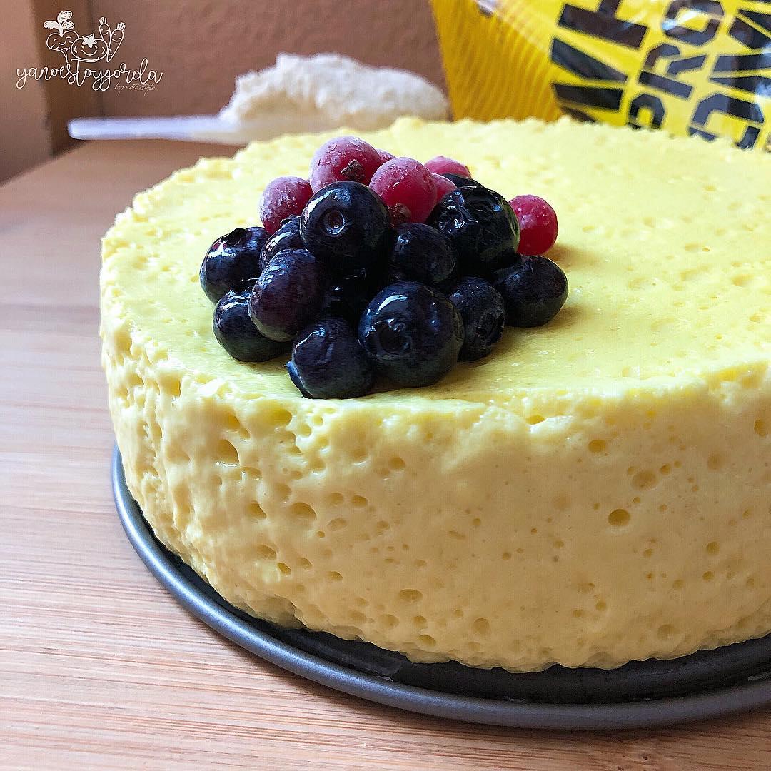 Mousse proteínica sabor cheesecake de limón
