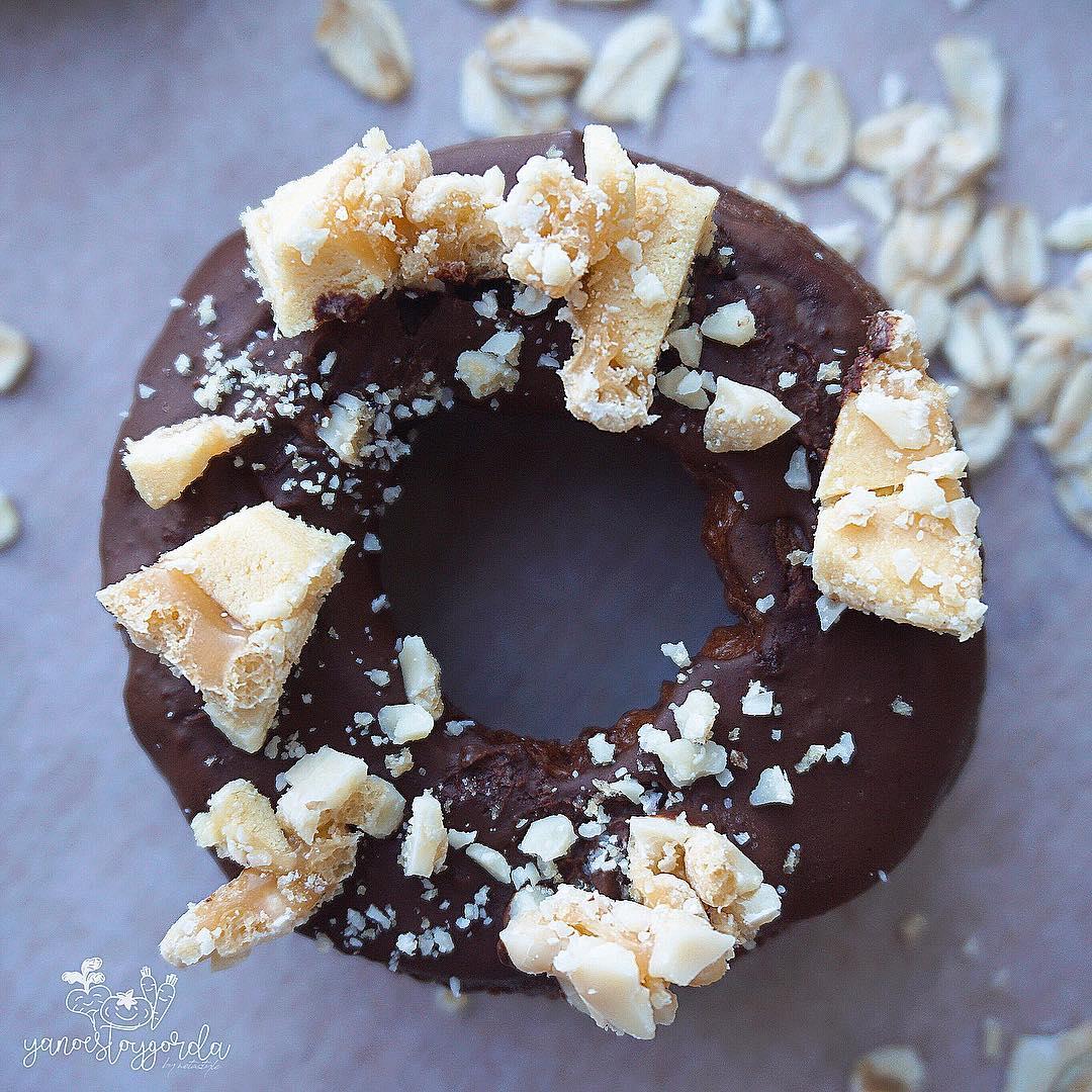 Donettes de chocolate saludables
