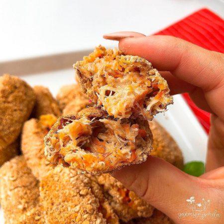 Croquetas saludables de zanahoria y pollo