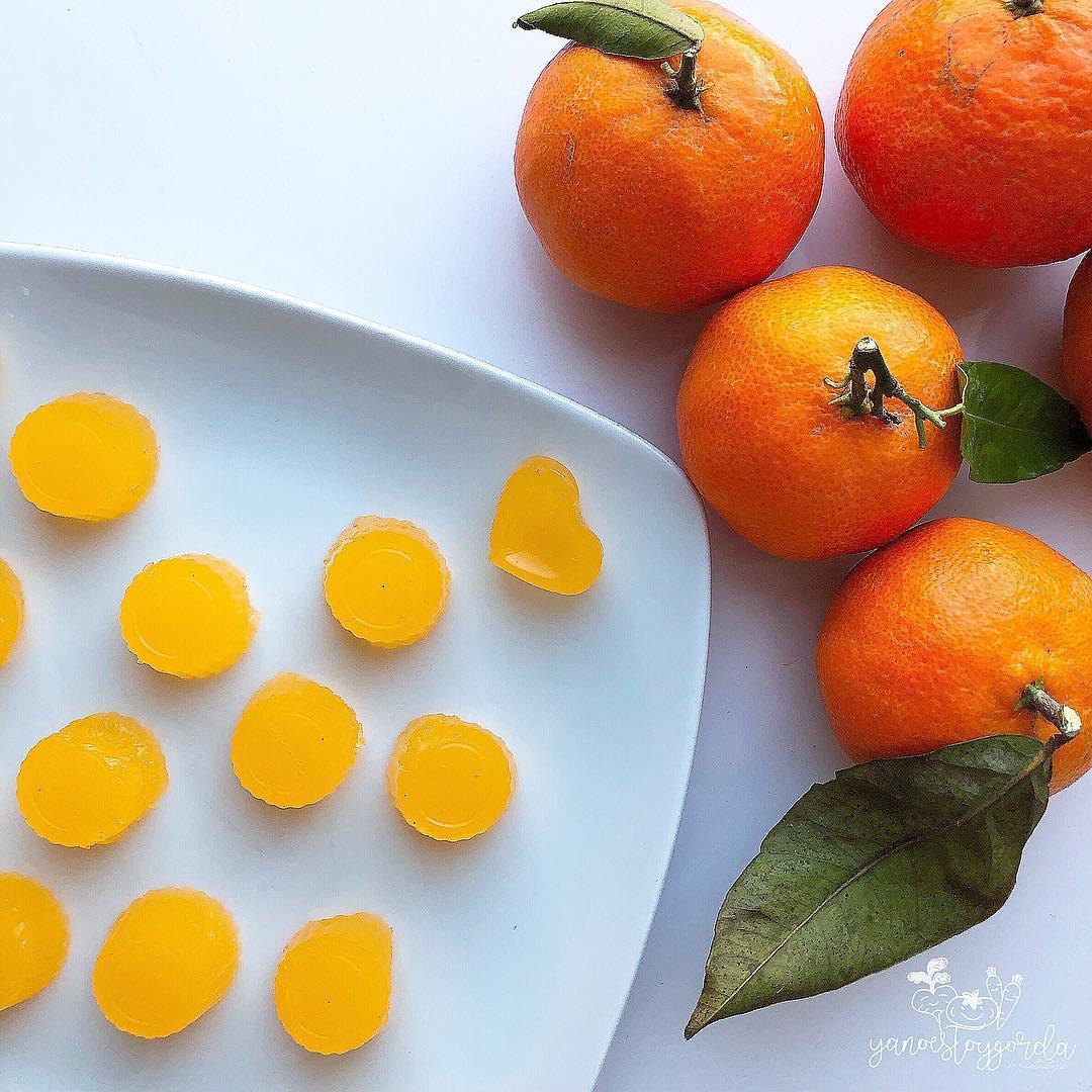 Gominolas de mandarina sin azúcar