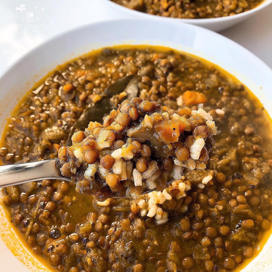 Lentejas con verduras al Ras El Hanout
