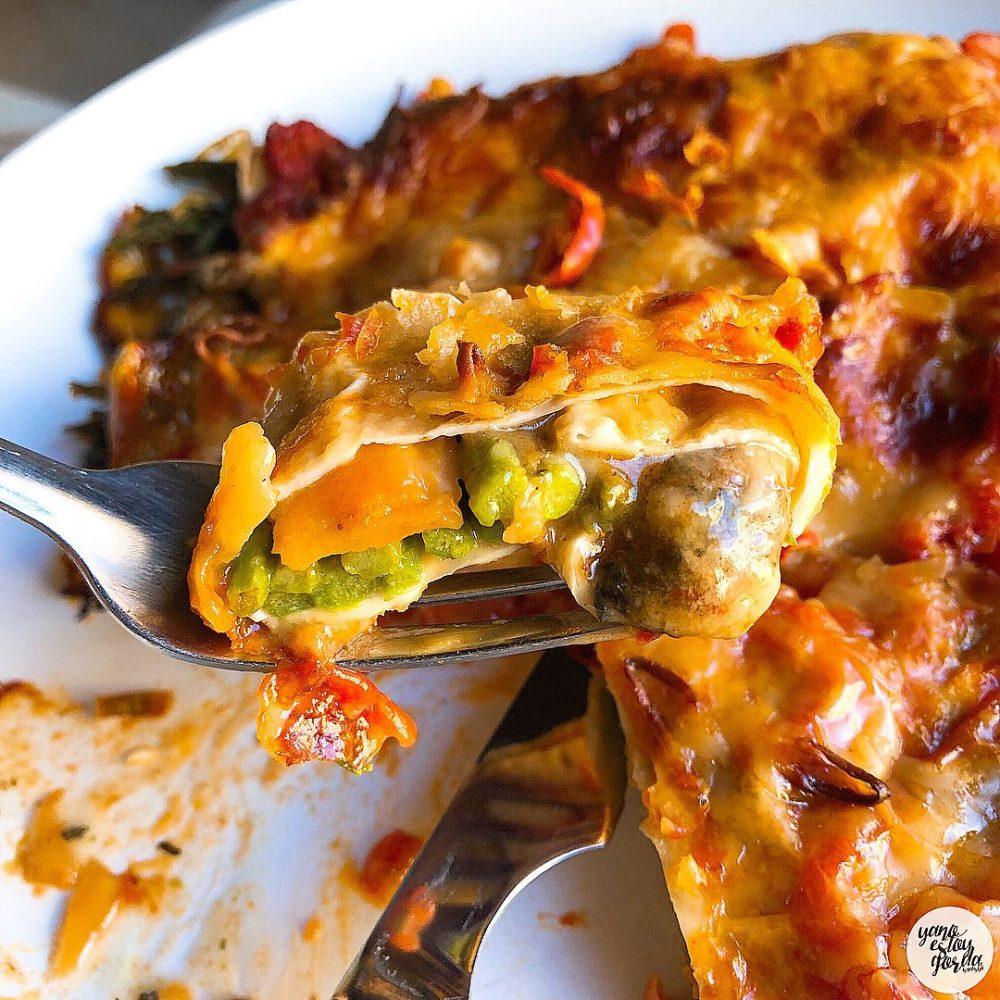 Falsos canelones con verduras y queso